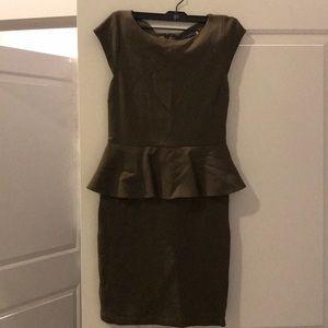 Peplum waist Mini Dress